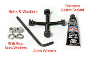 Included hardware, tools & gasket sealant.